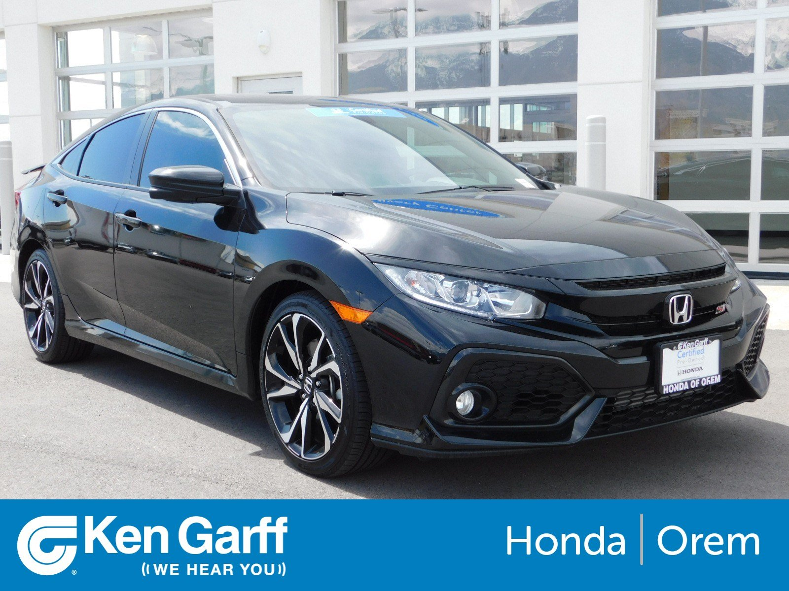 Honda Civic Si Used >> Certified Pre Owned 2018 Honda Civic Si Sedan In Orem 2h90622a